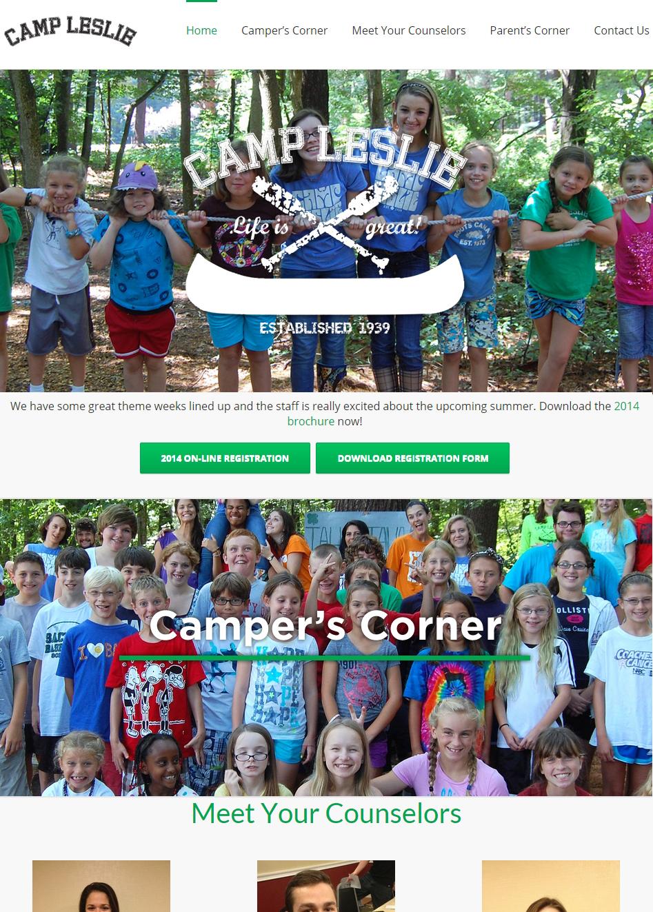 Camp Leslie - Website